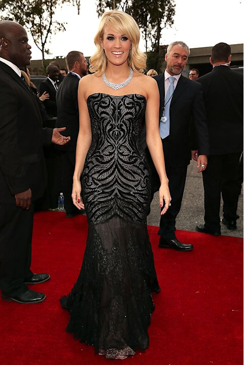 The 55th Annual GRAMMY Awards - Red Carpet: Carrie Underwood