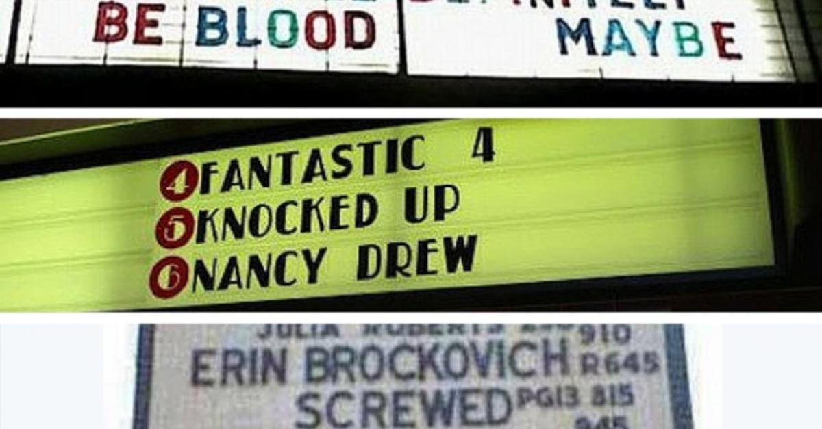 18 Movie Signs That Told A Totally Different Story