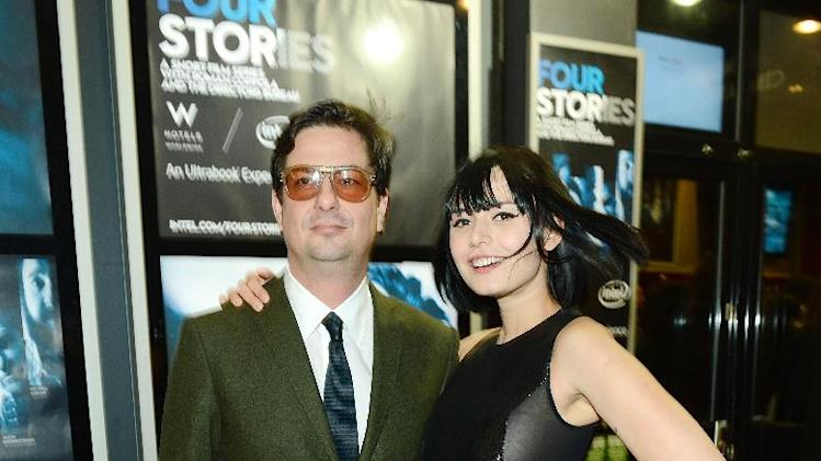 Director Roman Coppola and actress Margarita Kallas  seen at The Premiere of Intel & W Hotels' Four Stories on Tuesday, Nov. 27, 2012, W Hotel, London. (Photo by Jon Furniss/Invision for Intel/AP Images)