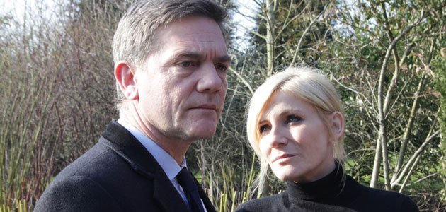 Graveside confession: Karl has something to tell Stella in Corrie (Credit: ITV)