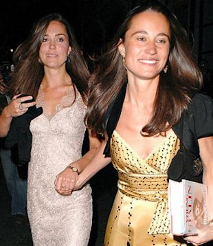 Likely maid of honor, Pippa Middleton (with sister Kate) has her work cut out for her. (photo via Papermag.com)