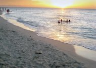 Cubans swim in Varadero beach, 130 km east of Havana