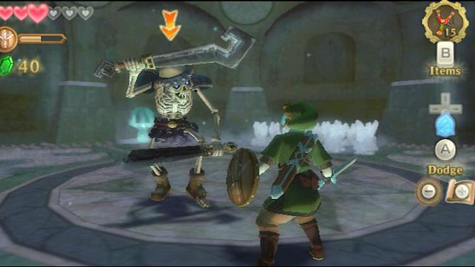 "This screen shot provided by Nintendo shows gameplay from the Wii video game ""The Legend of Zelda: Skyward Sword."" It's been five years since Link set out to rescue Zelda in a Nintendo console adventure. (AP Photo/Nintendo)"