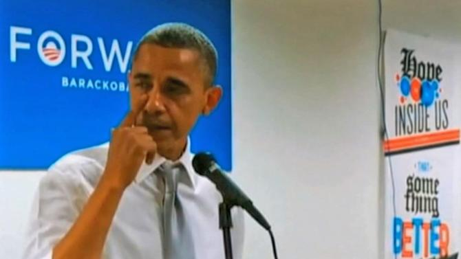 President Obama cries during thank-you speech