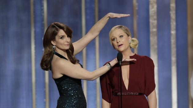Tina Fey and Amy Poehler host the 70th Annual Golden Globe Awards at the Beverly Hilton Hotel International Ballroom on January 13, 2013 -- Getty Images
