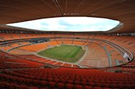 The Soccer City stadium in Soweto just outside of Johannesburg