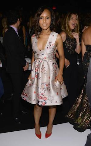'Scandal' star Kerry Washington at the 'Project Runway' show during Spring 2014 Mercedes-Benz Fashion Week at The Theatre at Lincoln Center on September 6, 2013 in New York City -- Getty Images