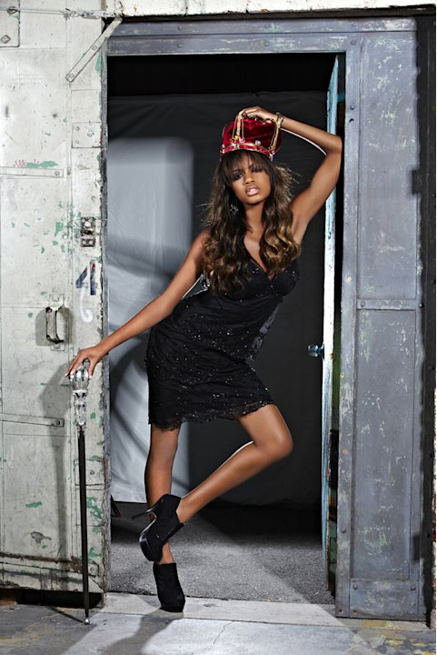Eboni in a photo shoot on &quot;America's Next Top Model.&quot; 