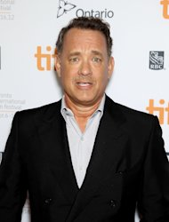 "FILE - This Sept. 8, 2012 file image released by Stapix shows actor Tom Hanks at the premiere of ""Cloud Atlas,"" at the Toronto International Film Festival in Toronto. Hanks will play a gutsy New York City newspaper columnist when he makes his debut on Broadway in the spring. Producers of Nora Ephron's play ""Lucky Guy"" announced Thursday that Hanks will play Mike McAlary in the stage biography. Hanks, a two-time Oscar winner, had been in negotiations for the role when Ephron died this summer. Previews begin March 1 at the Broadhurst Theatre and an opening night is set for April 1. (AP Photo/Starpix, Marion Curtis, file)"