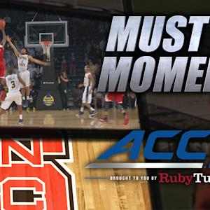 NC State's Lacey Game-Winning 3 Beats Buzzer in OT | ACC Must See Moment