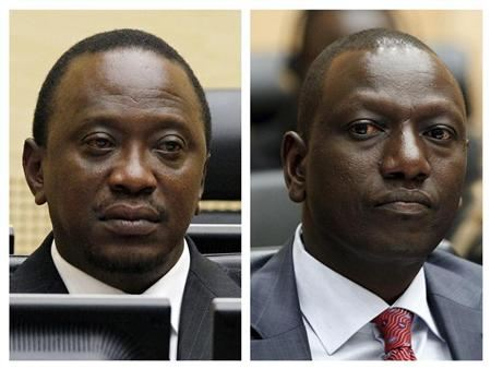 Uhuru Kenyatta and Kenya's former Higher Education Minister William Ruto