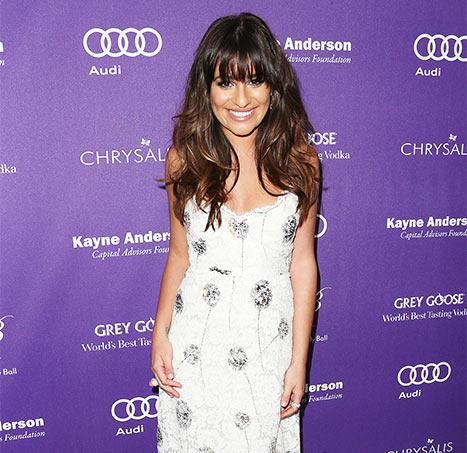 "Lea Michele Has ""Beautiful Dinner"" at Ryan Murphy's House: Picture"