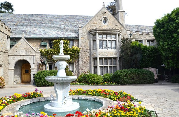The iconic Playboy mansion in Los Angeles. (Kelly Senyei/Gourmet)