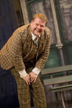 "In this theater image released by Boneau/Bryan-Brown, James Corden is shown in a scene from ""One Man, Two Guvnors,"" performing at the Music Box Theatre in New York. Producers of the James Corden-led play said Wednesday, Aug. 22, 2012, they have recouped its $3.25 million capitalization during the week ending Aug. 19. (AP Photo/Boneau/Bryan-Brown, Joan Marcus)"