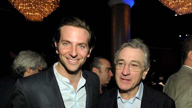 "Bradley Cooper, nominated for best actor in a leading role, left, and Robert De Niro, nominated for best actor in a supporting role, for ""Silver Linings Playbook,"" attend the 85th Academy Awards Nominees Luncheon at the Beverly Hilton Hotel on Monday, Feb. 4, 2013, in Beverly Hills, Calif. (Photo by John Shearer/Invision/AP)"