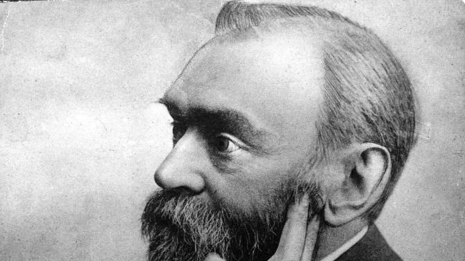 """FILE - In this undated portrait, Swedish chemist and industrialist Alfred Nobel (1833-1896) is shown.  Guessing the Nobel Prize winners is a bit like forecasting the stock market: the sages don't seem to do it any better than the layman. So when you hear scholars and pundits predicting the Higgs boson particle will be the theme of the physics prize next week, or that an American writer, finally, is due for the literature award, it's good to keep their track record in mind. """"My top candidate has never won, and it's the fourth year I've been doing it,"""" admits Norwegian peace researcher Kristian Harpviken, one of the most frequently cited commentators on the Nobel Peace Prize. (AP Photo)"""