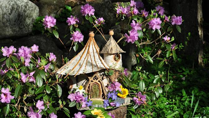 This undated image released by Greenspirit Arts shows a garden faerie house.  (AP Photo/Greenspirit Arts, Sally J. Smith)