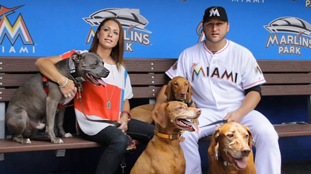 Baseball Player Won't Move Without Dog (ABC News)