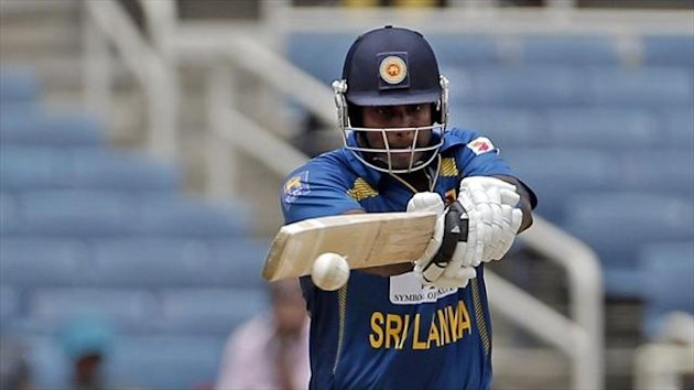 Angelo Mathews struck an unbeaten 55 in Sri Lanka's 208 total (AP)
