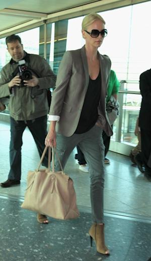 Charlize Theron travels in style as she's spotted at Heathrow Airport on March 29, 2011 in London, England -- FilmMagic