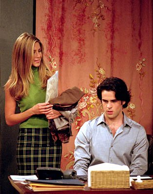 "Jennifer Aniston and Eddie Cahill in ""The One With Rachel's Assistant"" in NBC's Friends"