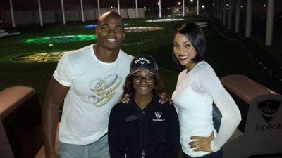 Embattled NFL Star Adrian Peterson All Smiles at Topgolf Over the Weekend
