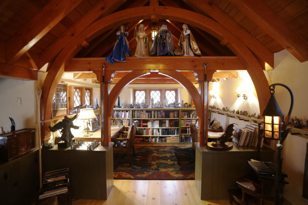 "Shown is an Interior view of the ""Hobbit House"" Tuesday, Dec. 11, 2012, in Chester County, near Philadelphia. Architect Peter Archer has designed a ""Hobbit House"" containing a world-class collection o"