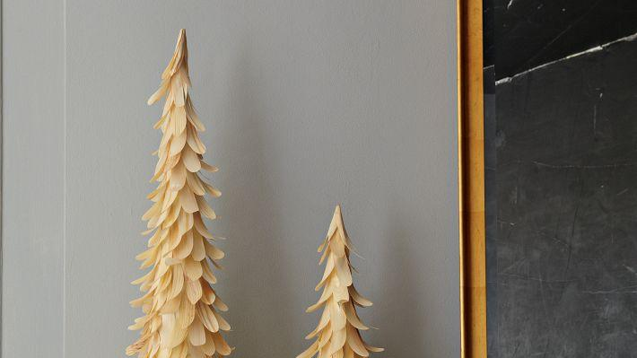west elm wood chip Space-saving Christmas tree alternatives