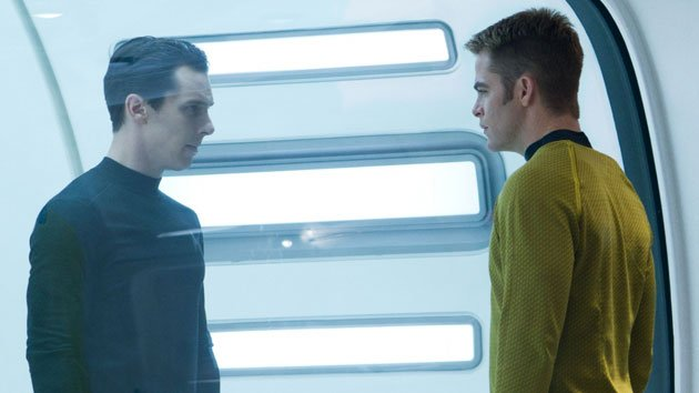 Benedict Cumberbatch and Chris Pine in 'Star Trek Into Darkness'