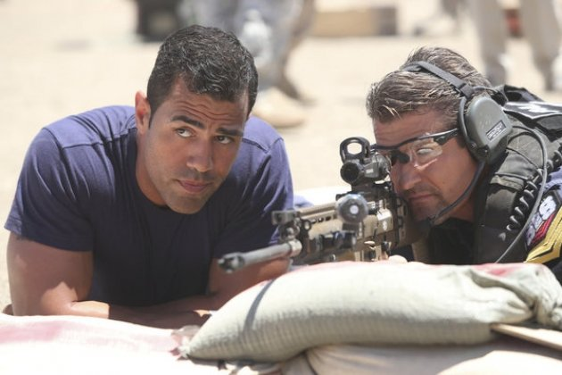 J.W. Cortes and Todd Palin in NBC's 'Stars Earn Stripes' -- NBC