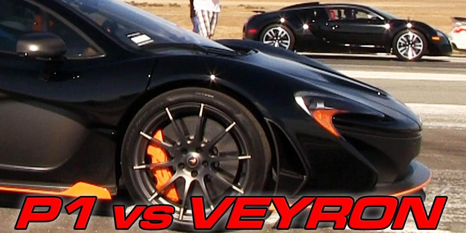 McLaren P1 Slays Bugatti Veyron in Airstrip Drag Race