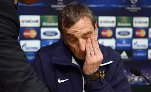 Manchester City's assistant manager Ruben Cousillas gestures during a news conference at the Camp Nou Stadium in Barcelona, Spain, Tuesday, March 11, 2014. FC Barcelona will play against Mancheste