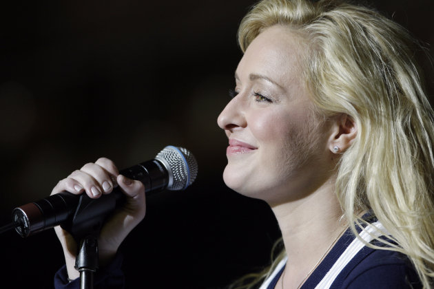 FILE - This Nov. 14, 2008 file photo shows country singer Mindy McCready performsingin Nashville, Tenn. Authorities in Arkansas say preliminary autopsy results confirm country music singer Mindy McCready&#39;s death was a suicide. The Cleburne County sheriff said in a statement Wednesday, Feb. 20, 2013 that preliminary autopsy results from Arkansas&#39; state crime lab show McCready&#39;s death was a suicide from a single gunshot wound to the head. McCready, who hit the top of the country charts before personal problems sidetracked her career, died Sunday, Feb. 17. She was 37. (AP Photo/Mark Humphrey, File)