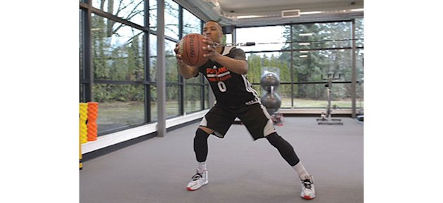Lateral Shuffle and Press with Basketball
