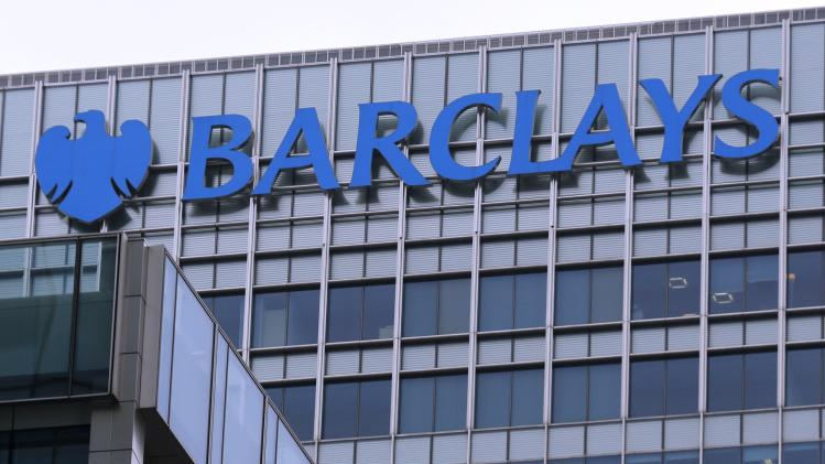 The logo of Barclays bank is seen at its office in the Canary Wharf business district of London