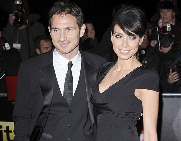 Frank Lampard with not so soon-to-be wife Christine Bleakley.