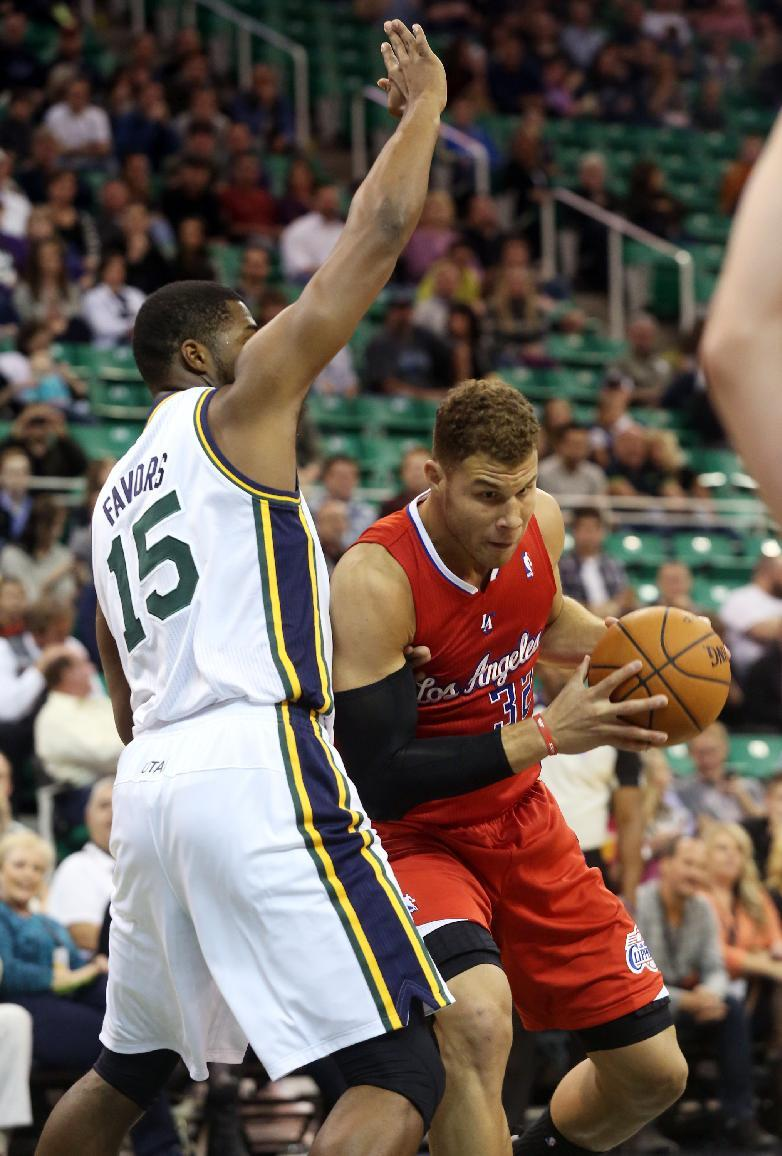 Mullens, Jordan lead Clippers past Jazz, 106-74