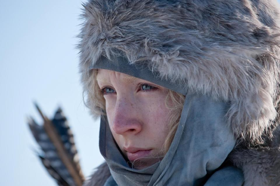 "In this film publicity image released by Focus Features, Saoirse Ronan is shown in a scene from ""Hanna."" (AP Photo/Focus Features, Alex Bailey)"