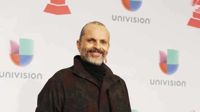 Miguel Bose arrives at the 15th Annual Latin Grammy Awards in Las Vegas