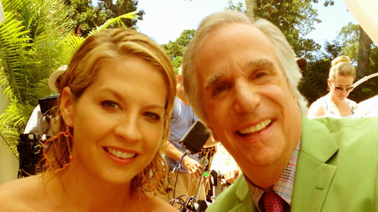 LOVE LOVE LOVE filming @RoyalPains_USA with my friend, the lovely and perfect Henry Winkler @HWinkler4Real