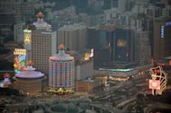 File picture of Macau's central district. Macau boasts more than 30 casino resorts, among then the 3,000-room Venetian Macao-Resort-Hotel and the City of Dreams complex, which offers a combined 1,400 rooms across three hotels