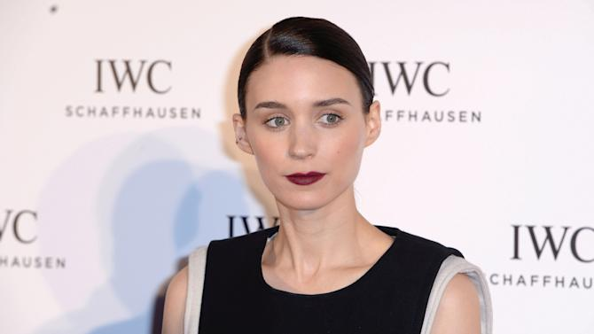 """DISTRIBUTED FOR IWC - Actress Rooney Mara attends the exclusive """"For The Love Of Cinema"""" event hosted by Swiss luxury watch manufacturer IWC Schaffhausen at the Hotel du Cap-Eden-Rocin in Antibe, France, on Sunday, May 19, 2013.  (Samir Hussein for IWC/Photopress via AP Images)"""