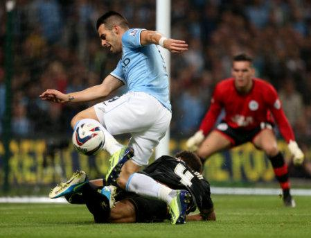 Soccer - Capital One Cup - Third Round - Manchester City v Wigan Athletic - Etihad Stadium