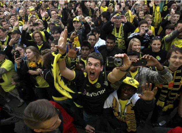 Fans Of German Soccer Champions AFP/Getty Images