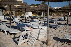 Blood stains on a deckchair at Tunisia's popular …