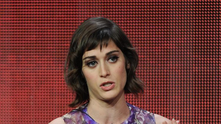 "Actor Lizzy Caplan participates in the ""Masters of Sex"" panel at the 2013 Showtime Summer TCA Press Tour at the Beverly Hilton Hotel on Tuesday, July 30, 2013 in Beverly Hills, Calif. (Photo by Frank Micelotta/Invision/AP)"