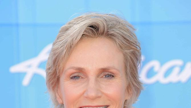 Jane Lynch arrives at the American Idol Finale on Wednesday, May 23, 2012 in Los Angeles. (Photo by Jordan Strauss/Invision/AP)