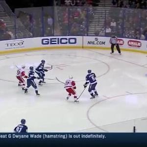 Ben Bishop Save on Pavel Datsyuk (01:21/2nd)