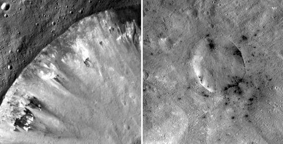 Crater on Huge Asteroid Vesta Gets 3D Treatment