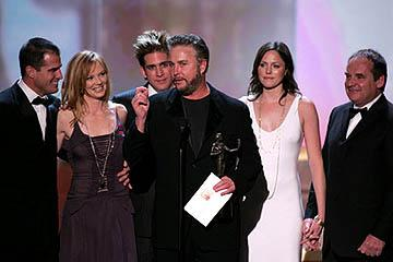 "George Eads, Marg Helgenberger, Eric Szmanda, William Petersen, Jorja Fox and Paul Guilfoyle of ""CSI"" Outstanding Ensemble in a Drama Series Screen Actors Guild Awards - 2/5/2005"